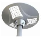 9 Watt All-in-One Solar Plaza Light, Carton of 2