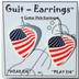 Guitar Pick Earrings - USA