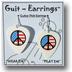 Guitar Pick Earrings - Peace