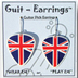 Guitar Pick Earrings - UK