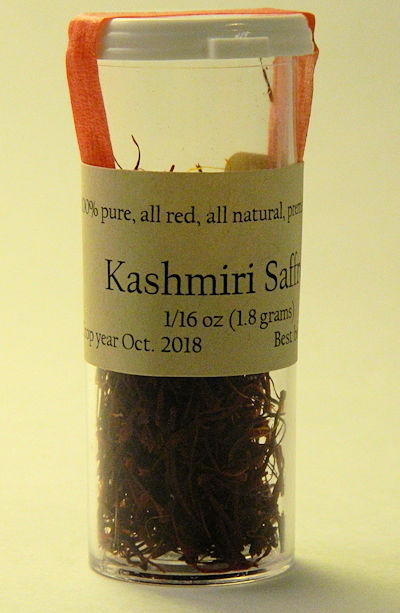 1/16 OZ. Kashmiri Saffron Threads