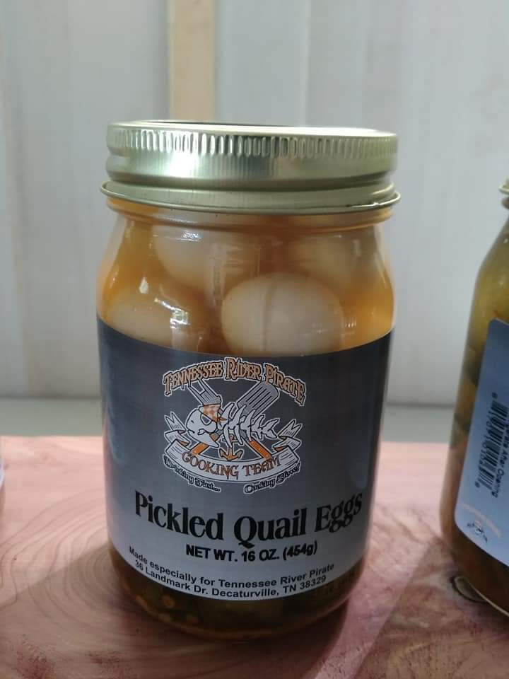 Tennessee River Pirate Spicy Pickled Quail Eggs