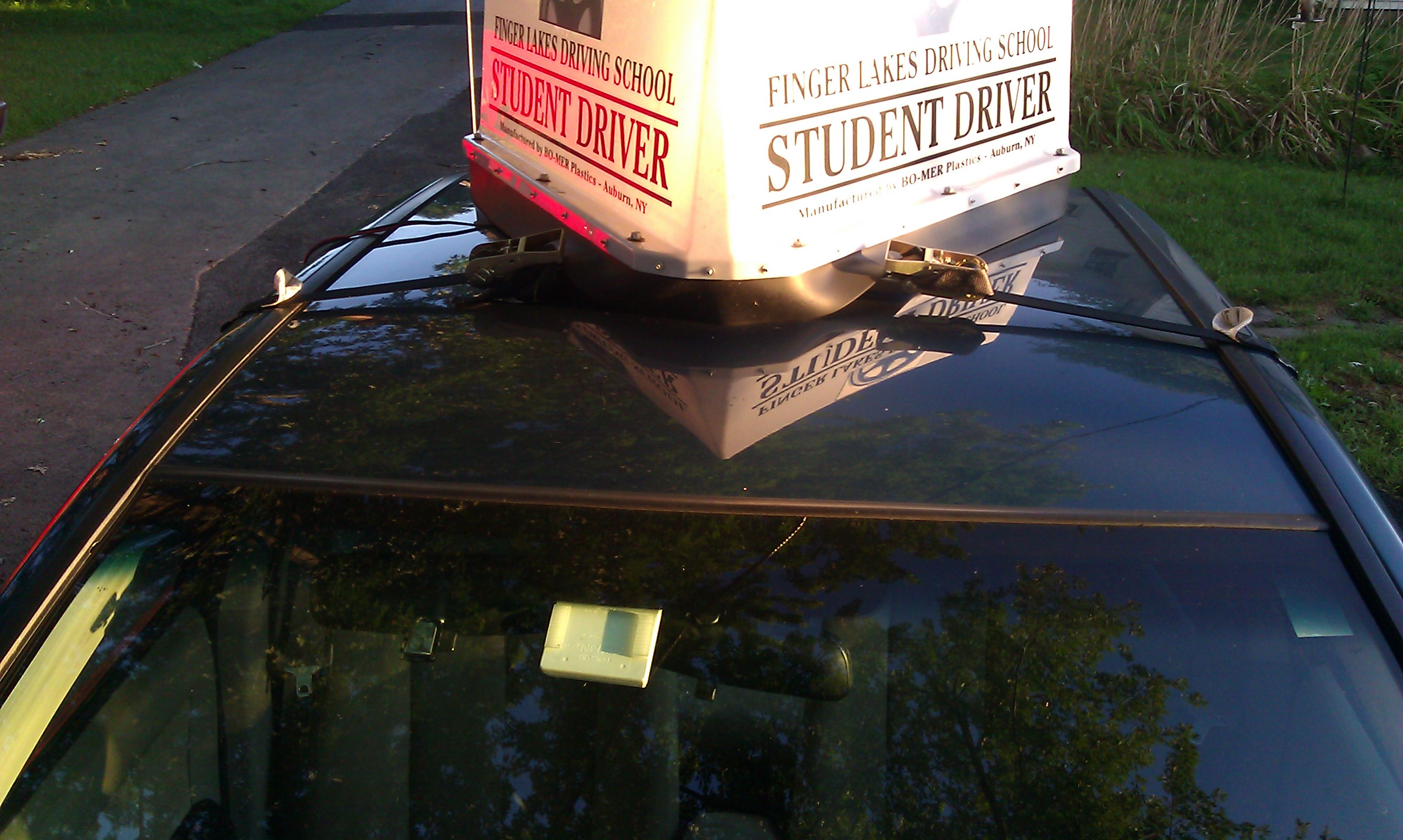 3 Sided taxi top signs