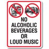 No Alcohol or Loud Music Decal