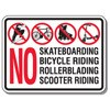 No Bike, Skateboarding, etc Decal