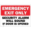 Emergency Exit Only Decal