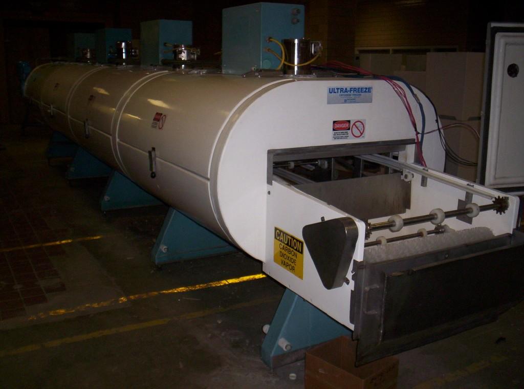 """1 Tier IQF Nitrogen LN2 UltraFreeze Tunnel Freezer- 30"""" Conveyor Belt"""