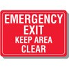 Emergency Exit Keep Area Clear Decal