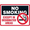 No Smokin Except in Designated Areas