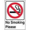 No Smoking Please (picture of cigarette crossed out)