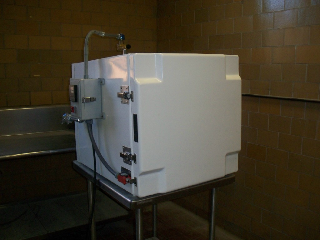 12 CF Cubic Foot Blast Cabinet Freezer CO2 or Nitrogen Tank