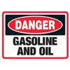Danger Gasoline and Oil Decal Stickers