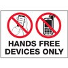 Hands Free Devices Only Decal Stickers