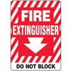 Fire Extinguisher Do Not Block Decal (down arrow)