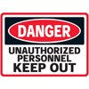 Unauthorized Personel Keep Out Decal