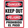 Danger Keep Out Bilngual Decal (bilingual)