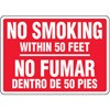 No Smoking Within 50 Feet (biligual)