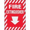 Fire Extinguisher Decal (down arrow)