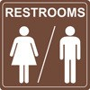 Restrooms Men/Women Decal