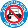 Cell Phone and Texting are Prohibited Decal Stickers