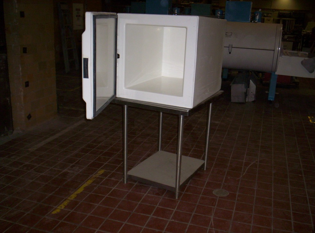 8 cubic foot cabinet freezer, blast freezer, for food or pharmaceutical use.