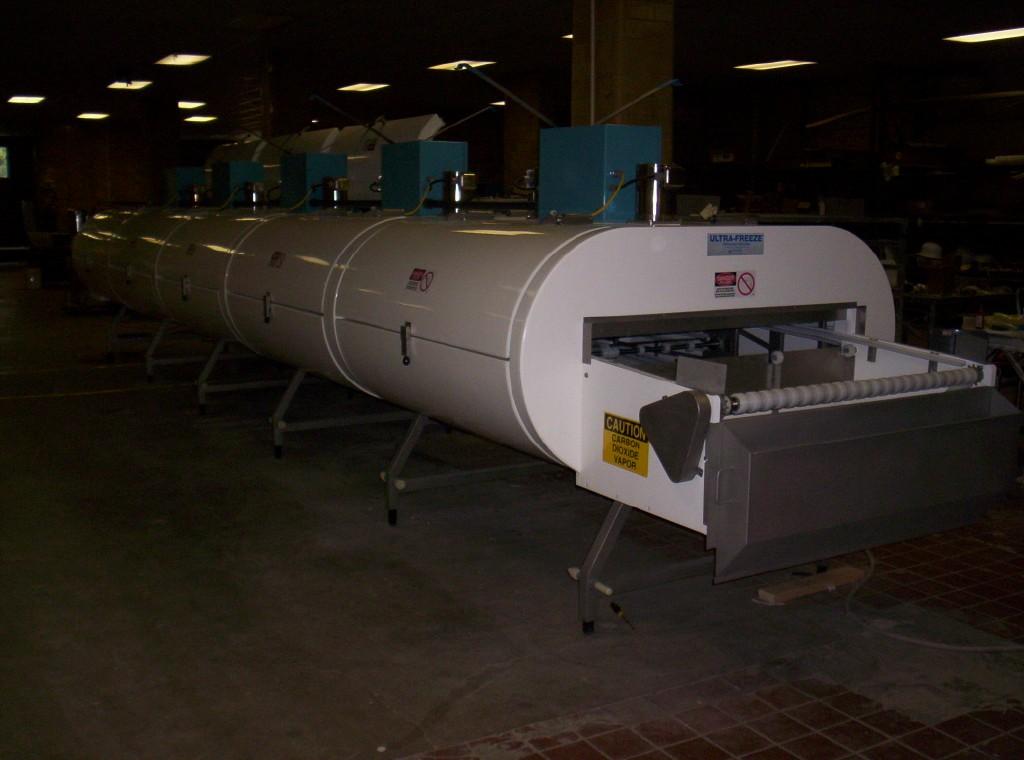"""1 Tier IQF Nitrogen LN2 UltraFreeze Tunnel Freezer, 48"""" conveyor belt"""