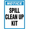 Notice Spill Clean Up Kit Decal