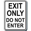 Exit Only Do Not Enter Decal