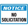 Notice- No Soliciting Decal