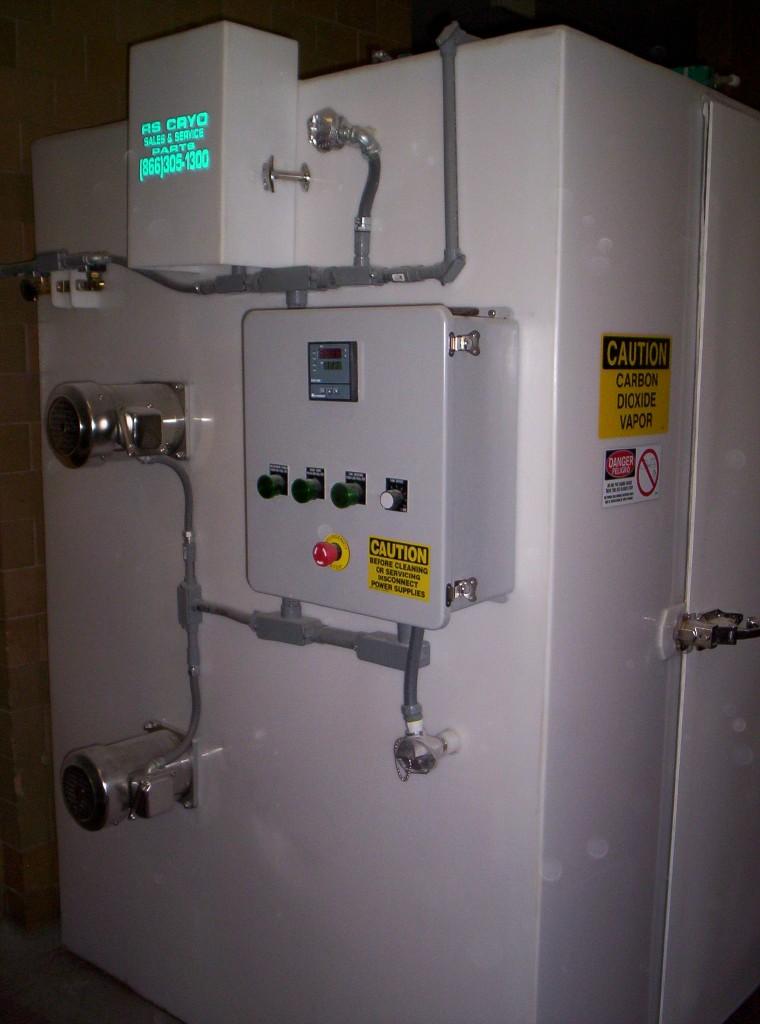 153 CF Cubic Foot Blast Cabinet Freezer CO2 or Nitrogen, for freezing food