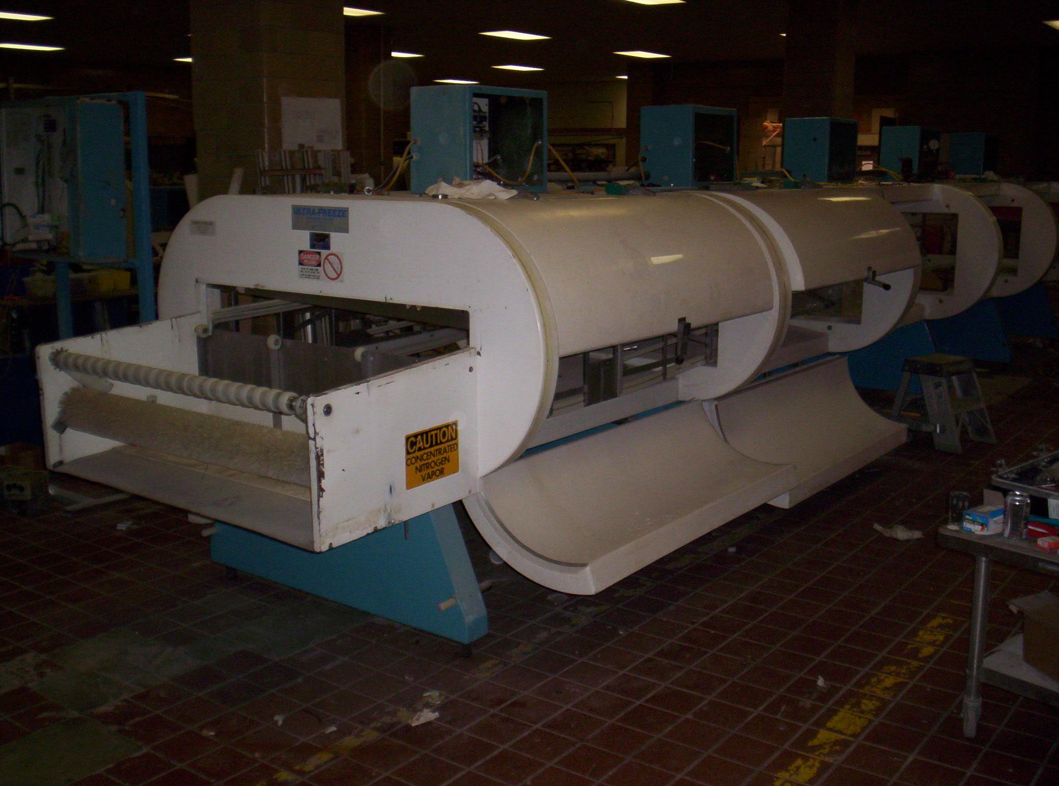 """3 Tier IQF Nitrogen LN2 UltraFreeze® Tunnel Freezer- 48"""" Conveyor Belt"""
