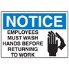 Employees Must Wash Hands Restroom Decal