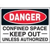 Confined Space Keep Out Unless Authorized Decal