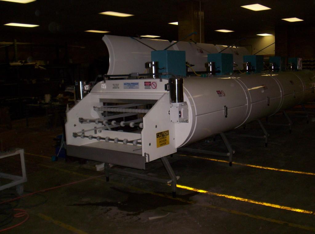 "1 TIER IQF CO2 ULTRAFREEZE® TUNNEL FREEZER- 30"" CONVEYOR BELT"