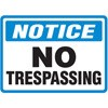 No Trespassing Decal