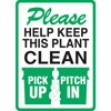 Help Keep This Plant Clean Decal