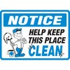 Notice Help Keep This Place Clean Decal