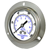 "PRESSURE GAUGE (1/4"" npt on back of gauge- flange mount)"