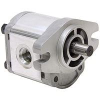 AA mount gear pump with keyed shaft and LH rotation