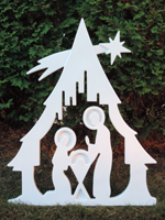 Nativity Tree - White; KofC 14416