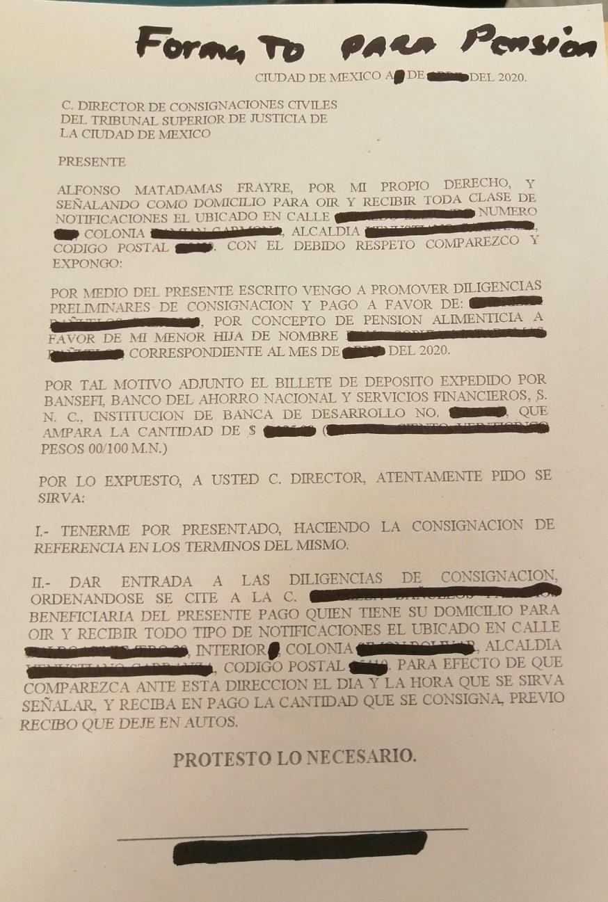 FORMATO BILLETE DEPÓSITO