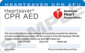 AHA CPR AED HEARTSAVER