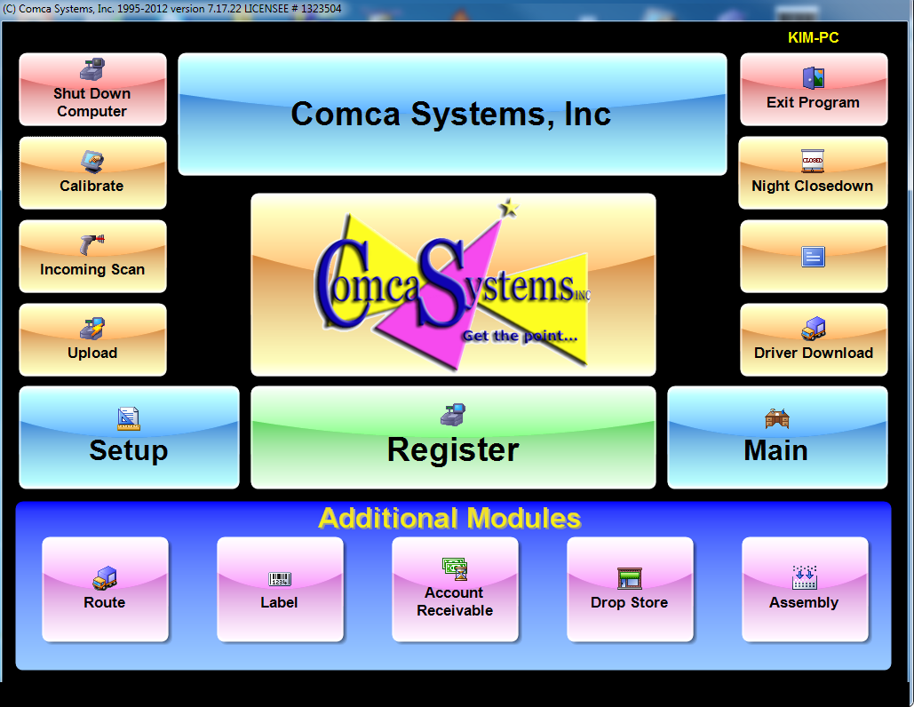Cleaners POS Professional Comca Systems Software