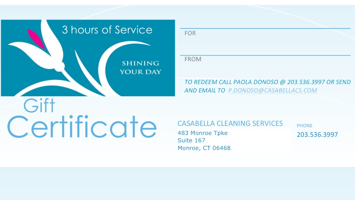 3 hours Cleaning - $180.00
