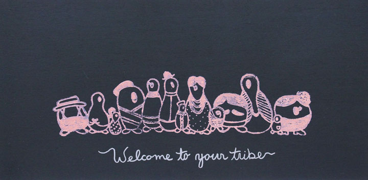 "Personalized ""Welcome To Your Tribe""- Chalkboard"