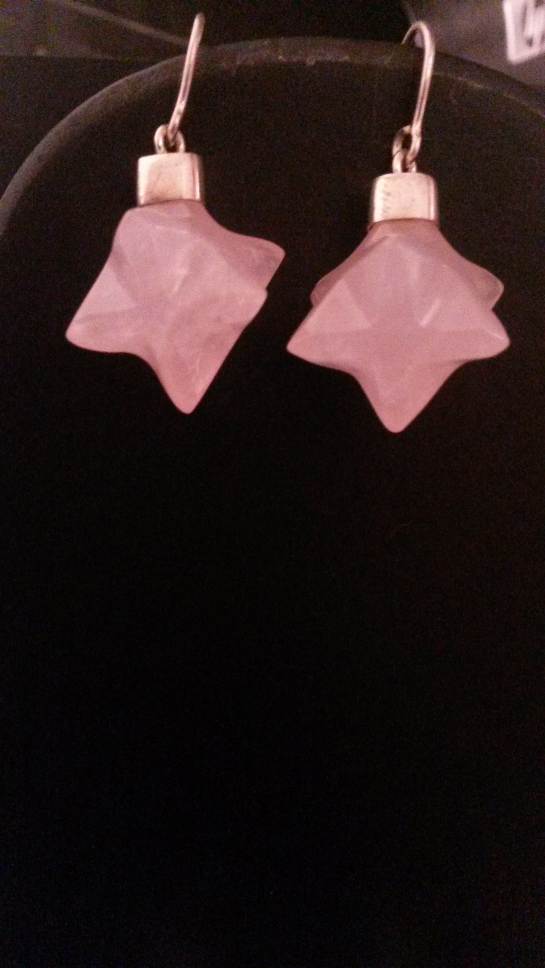 ROES QUARTZ  MERKABA  EARRINGS