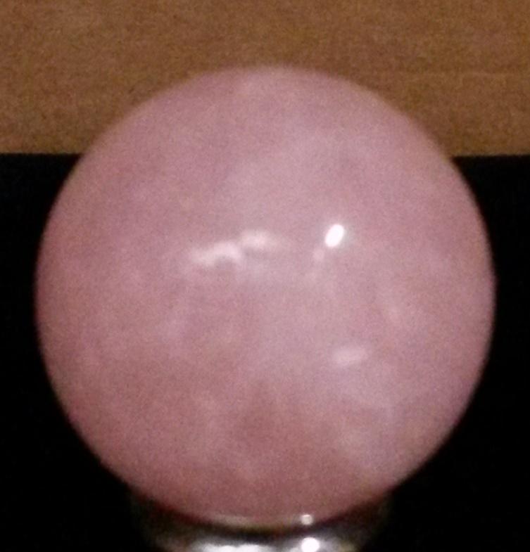 SMALL ROSE QUARTZ BALL