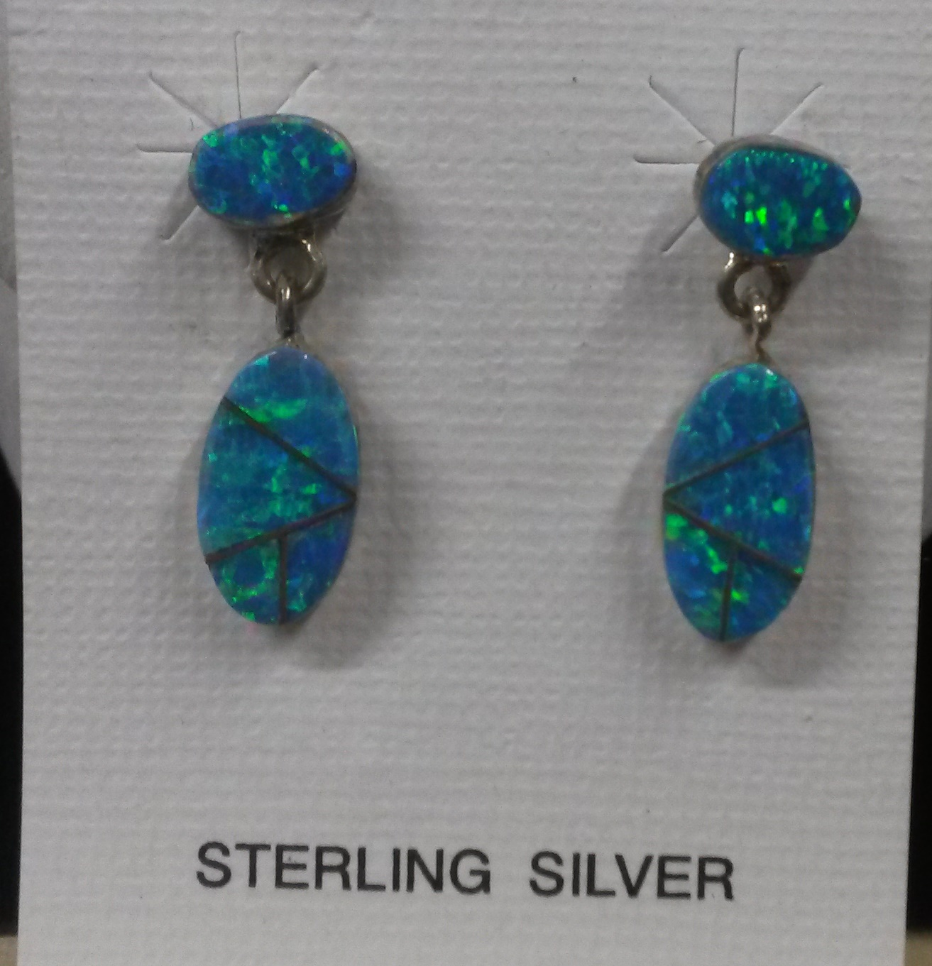 OPAL INLAY EARRING