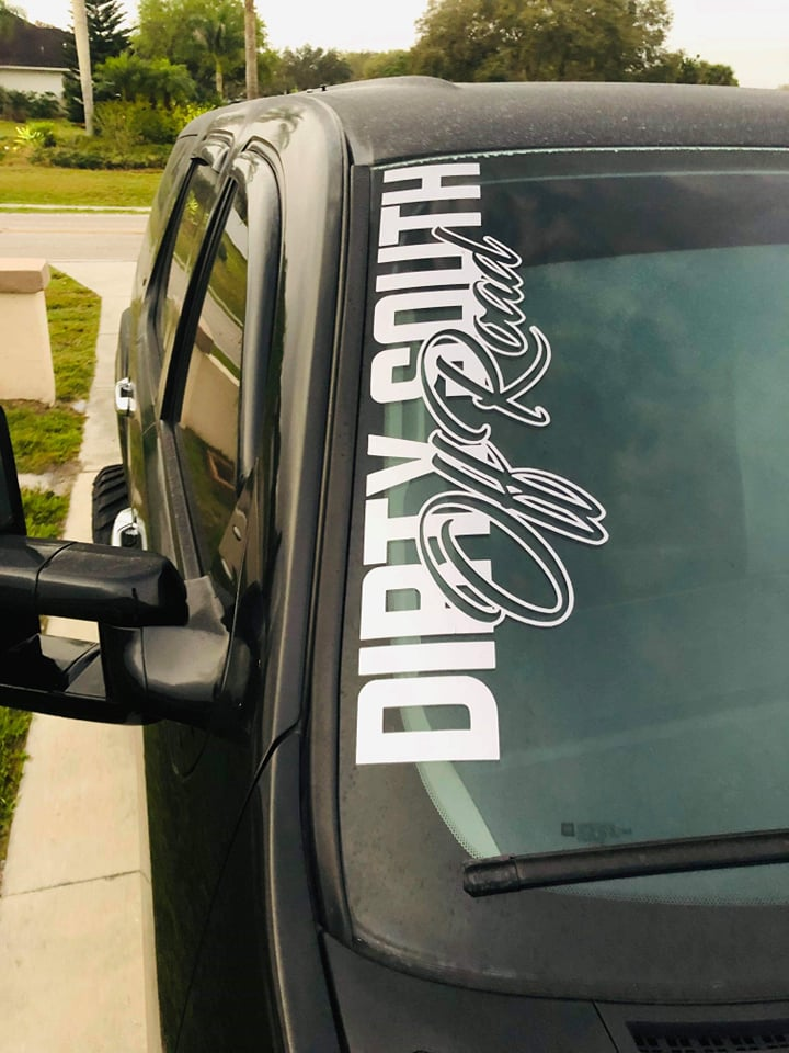 7x24 Side Windshield Decal