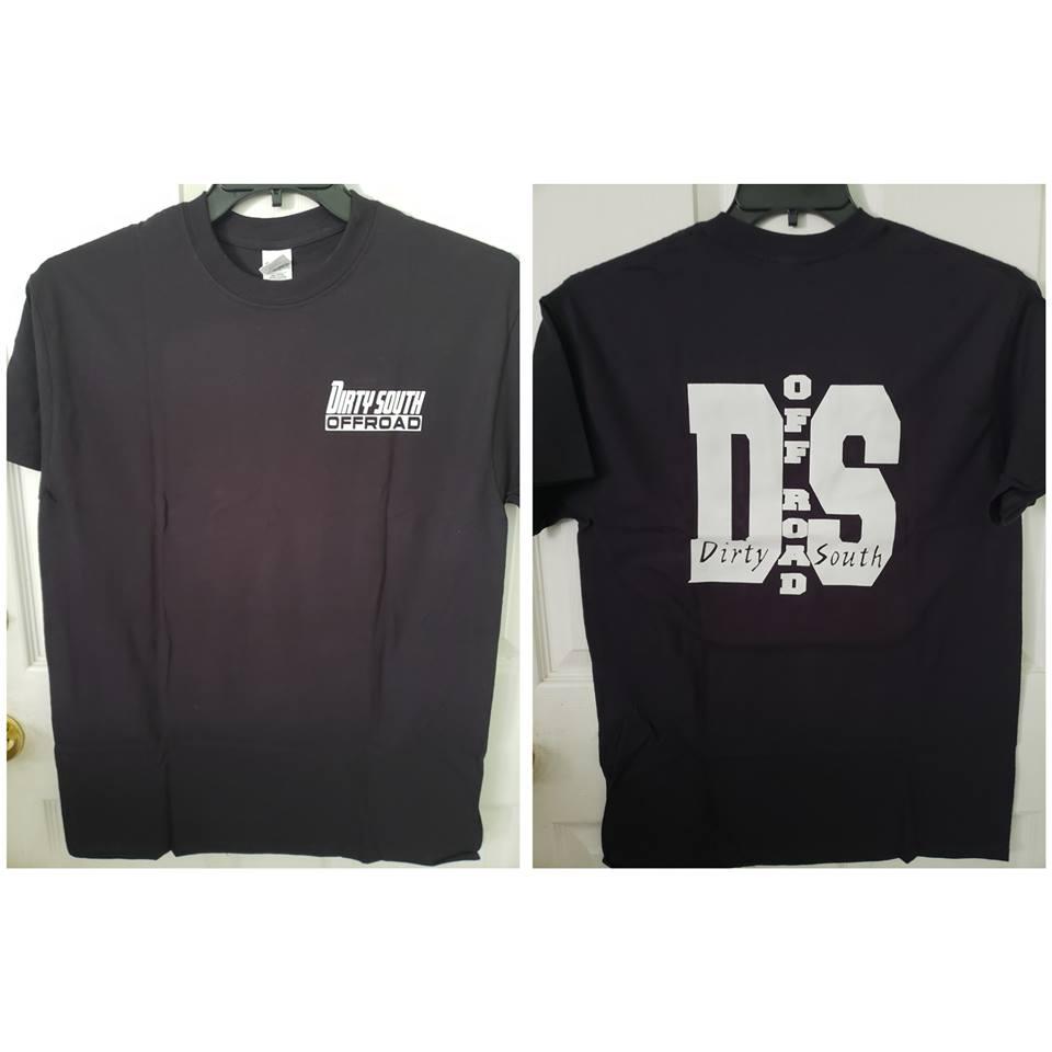 Black Mens T-Shirt w/ COLOR Logo (DS)